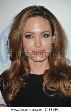 Angelina Jolie at the 23rd Annual Producers Guild Awards at the Beverly Hilton Hotel. January 21, 2012  Los Angeles, CA Picture: Paul Smith / Featureflash