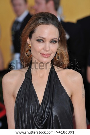 Angelina Jolie at the 17th Annual Screen Actors Guild Awards at the Shrine Auditorium, Los Angeles. January 29, 2012  Los Angeles, CA Picture: Paul Smith / Featureflash