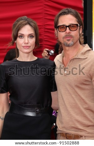 "Angelina Jolie, Brad Pitt at the ""Kung Fu Panda 2"" Film Premiere, Chinese Theater, Hollywood, CA. 05-22-11"