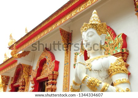 Angels guarding temples of Thai temples.