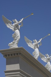 Angels monument at Caesars Palace hotel in Las Vegas