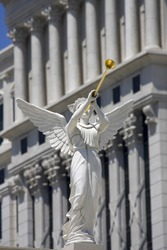 Angels Statue  at Caesars Palace hotel in Las Vegas