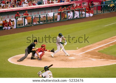 Angels vs. Oakland, Mike Piazza