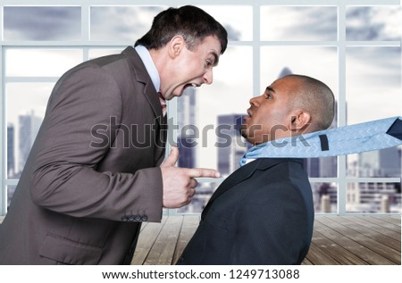 Anger couple business man #1249713088