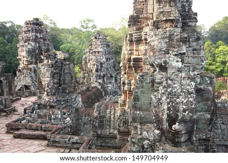 Angkor Thom is famous place in Siem reap, Cambodia