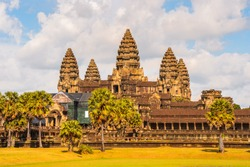 Angkor Wat (Capital Temple), Khmer temple in Cambodia.