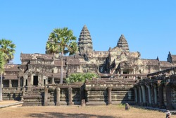 Angkor Wat is a temple complex at Angkor, Cambodia, built for the king Suryavarman II in the early 12th century as his state temple and capital city. The famous temple of Angkor Wat in Cambodia