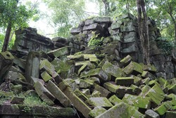 Angkor Wat is a temple complex in Cambodia and the largest religious monument in the world by land area.