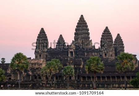Angkor Wat, Siem Reap, Cambodia  was inscribed on the UNESCO World Heritage List in 1992. #1091709164
