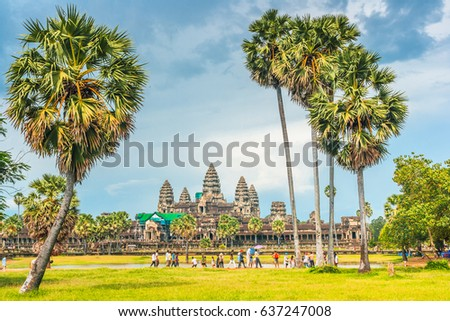 Angkor wat, Siem reap,Cambodia, was inscribed on the UNESCO World Heritage List in 1992. #637247008
