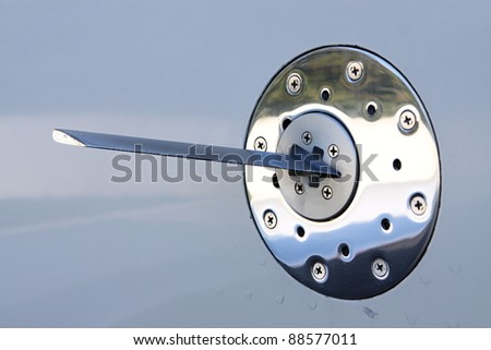 Angle of attack sensor on the side of an airplane