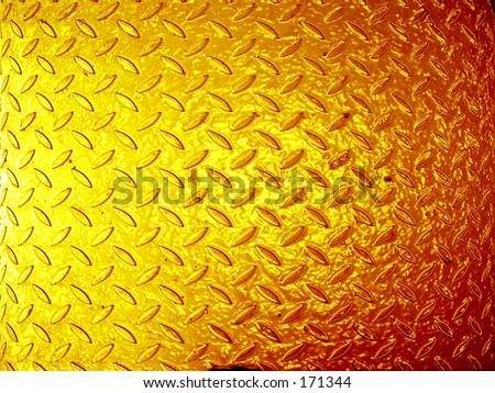 angle perspective lines geometric grating checker plate color orange  shine gold metal metalic floor