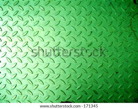 angle perspective lines geometric grating checker plate color  shine green metal metallic floor