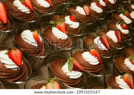 Angled Rows of Chocolate Desserts