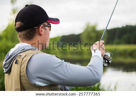 Angler fishing.