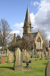 Anglican mortuary chapel, Philips Park Cemetery, Gorton, Manchester, UK