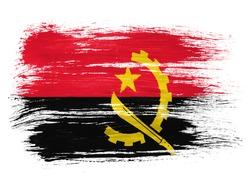 Angola. Angolan flag  on white background