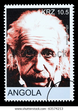 ANGOLA - CIRCA 2005: A postage stamp printed in Angola showing Albert Einstein, circa 2005
