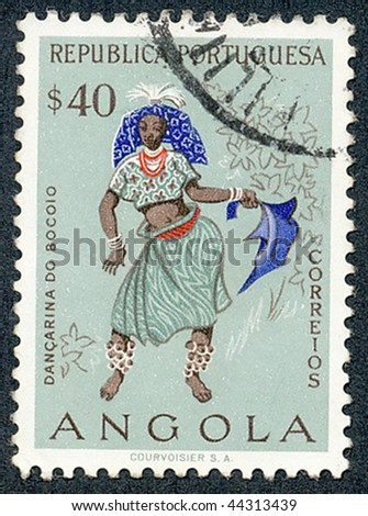 ANGOLA - CIRCA 1957: People of Angola, circa 1957