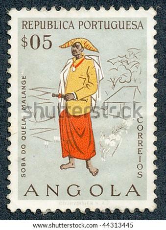 ANGOLA - CIRCA 1957: People of Angola, circa 1957