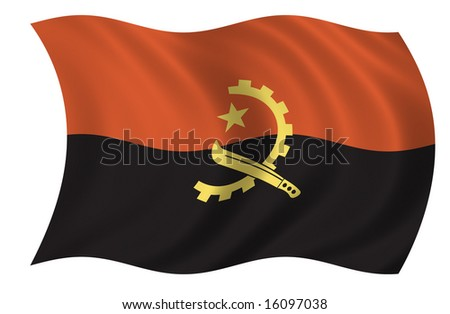 Angola Flag (see my portfolio for more flags)