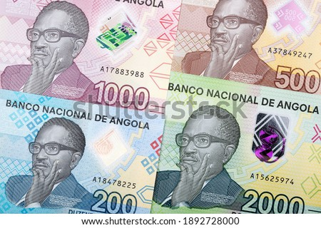 Angolan money - Kwanza a new series of banknotes Сток-фото ©