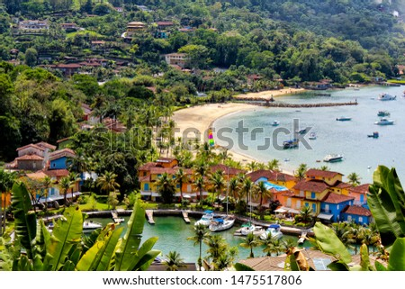 Angra dos Reis Bay - Condo - Gated house community by the sea in Angra dos Reis Stock foto ©