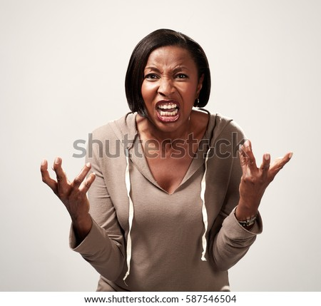 Angry african american woman #587546504