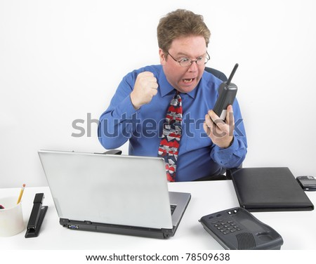 Angry Business Call - stock photo
