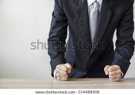 Idea has young man slam your fist on the table