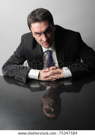 Angry businessman