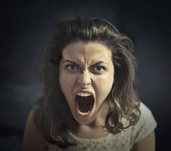 Angry girl shouting