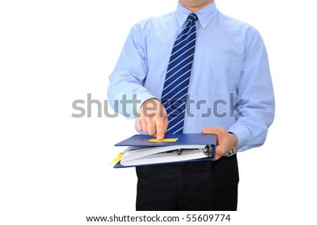 Angry manager returning folder to fix paperwork