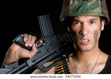Angry Military Man