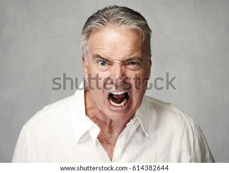 Angry senior man #614382644