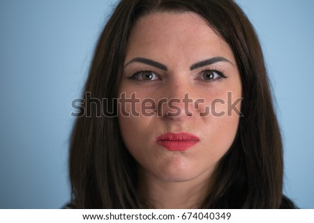 Angry woman screaming with rage, furious and dangerous #674040349
