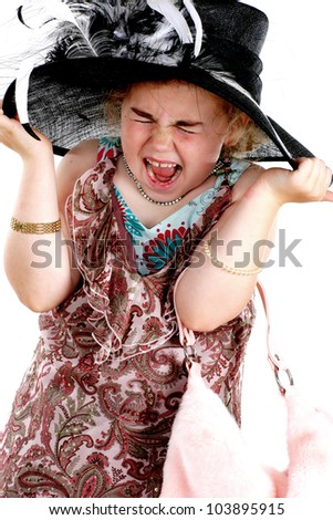 Angry Young Girl Dressing Up