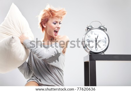 Angry young woman
