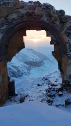 Ani Ruins, Ancient Medieval Armenian City, next to the Border of Armenia, Kars, Turkey