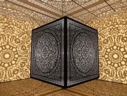 Anila Quayyum Agha Cube at Peabody Essex museum