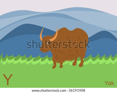 Clip Art Yak. Y for yak. jpeg