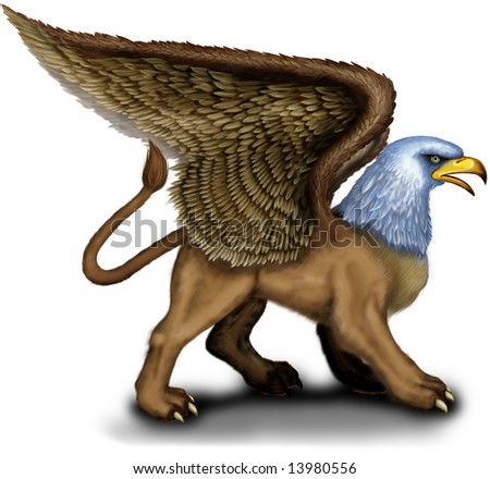 Lion Head Griffin http://www.shutterstock.com/pic-13980556/stock-photo-animal-from-ancient-mythology-with-the-body-of-a-lion-head-and-wings-of-an-eagle-griffin.html