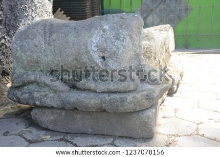 animal motif stone #1237078156