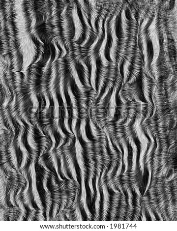animal print black and white hair texture