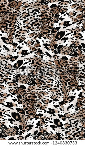 Animal print, leopard texture background