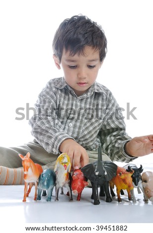 Animals toys isolated