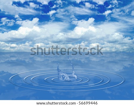 stock photo animated blue soft water over endless horizon sea background 56699446 Free Animated Water Background