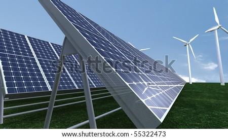 Solar Definition A field of solar panel in
