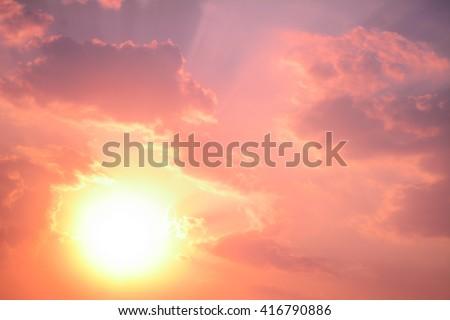anime sunset and sunrise pastel sky background #416790886