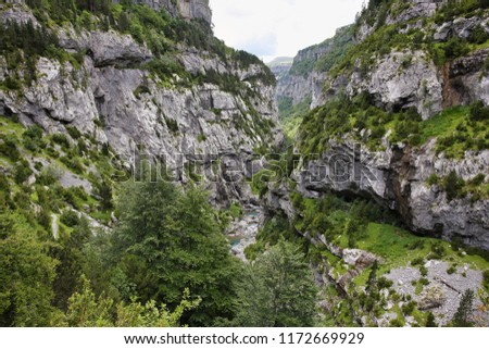 Anisclo gorge, Ordesa national park, Huesca, Spain